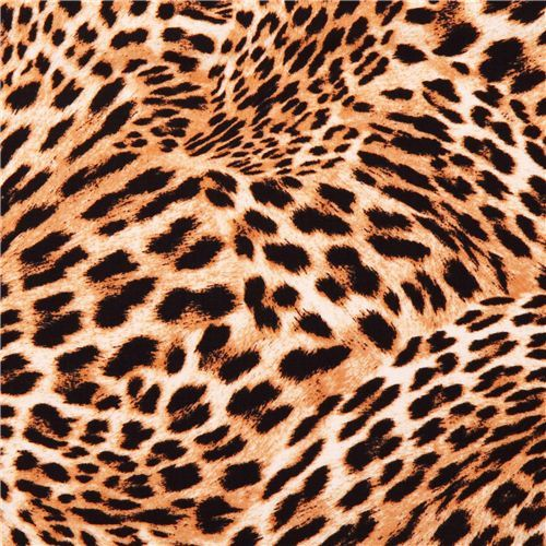 Cheetah Swirl gold animal fabric In the Tropics