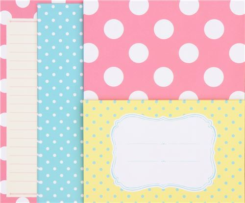 cute green white dot Letter Set by Q-Lia from Japan