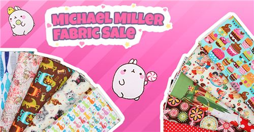Get awesome Michael Miller fabrics on SALE!