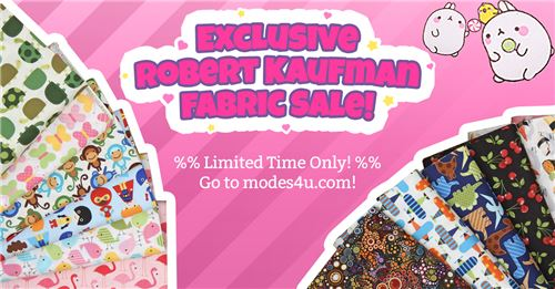 Get stunning Robert Kaufman fabric on sale!