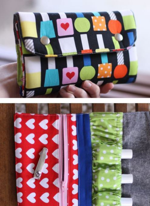 Make your very own pouches with this free pattern!