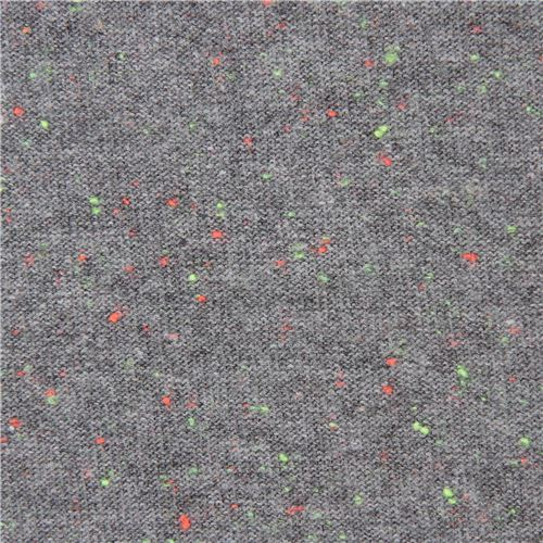 Robert Kaufman speckled grey knit fabric
