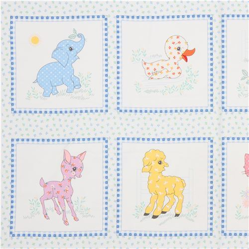 baby animal panel fabric by Robert Kaufman