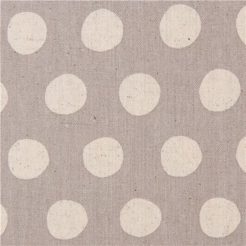 taupe canvas fabric with dots by Robert Kaufman