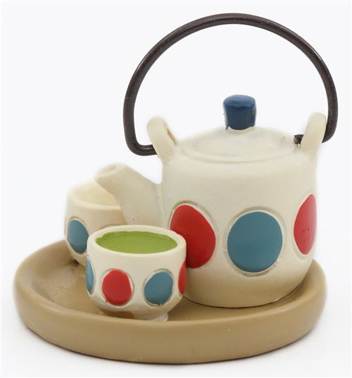 teapot with tea cups figurine from Japan