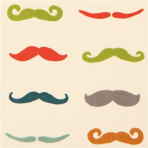 moustache retro organic knit fabric birch USA