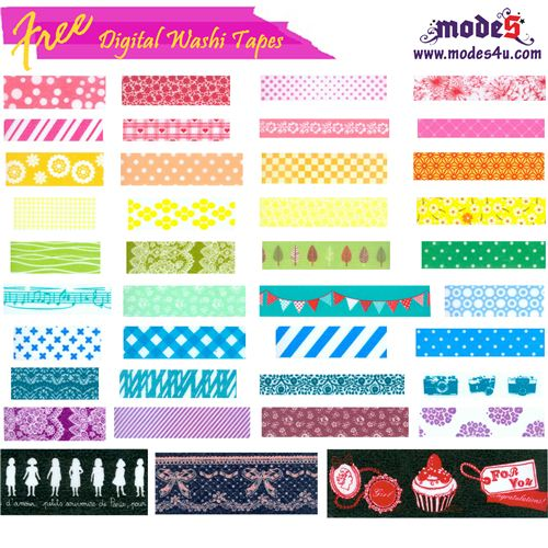 Youn can download the modes4u digital Washi Tape for free