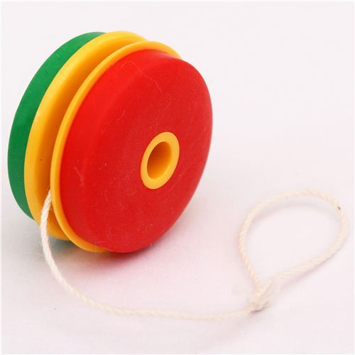 red-green yoyo classic game eraser by Iwako from Japan
