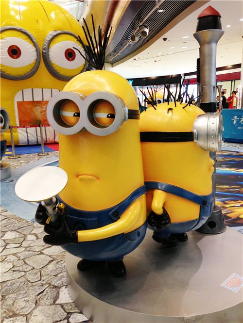 There were funny Minion figures everywhere