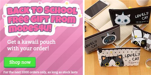 You can get one of these adorable kitty pouches!