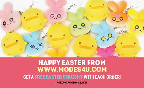 Get a FREE Easter Squishy with Your Order from modeS4u!