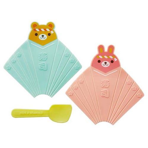 2 animal temaki sushi food shaper with spoon by Torune