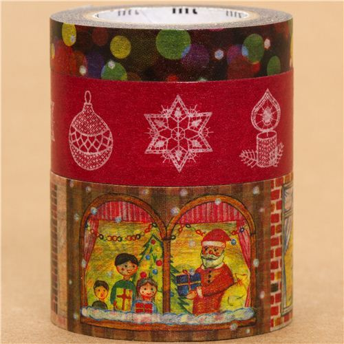 festive mt Masking Tape deco tape Christmas set 3pcs