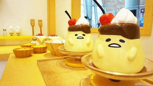 In the bakery everything looks funny, cute and delicious.