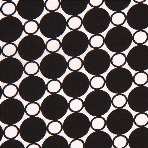 super wide black white circle fabric Robert Kaufman USA