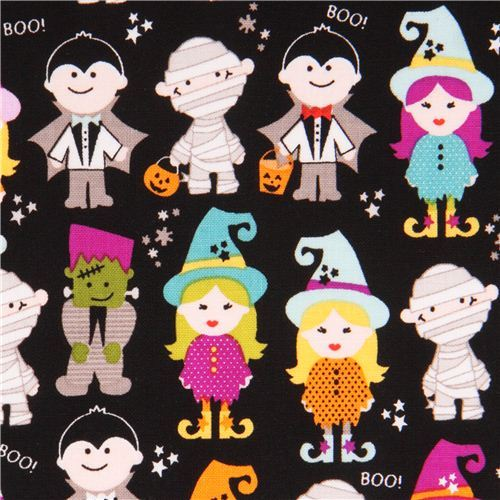 black Riley Blake 'Halloween Parade' fabric Halloween Magic
