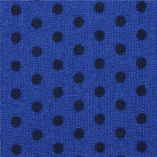 Spot On mini dot black Robert Kaufman dark blue fabric