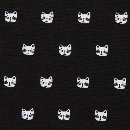 black mini cat fabric by Robert Kaufman