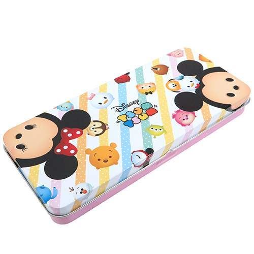 cute colorful Disney character pencil case tin case by Kamio from Japan