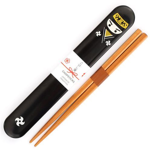 black ninja doll Bento chopsticks from Japan