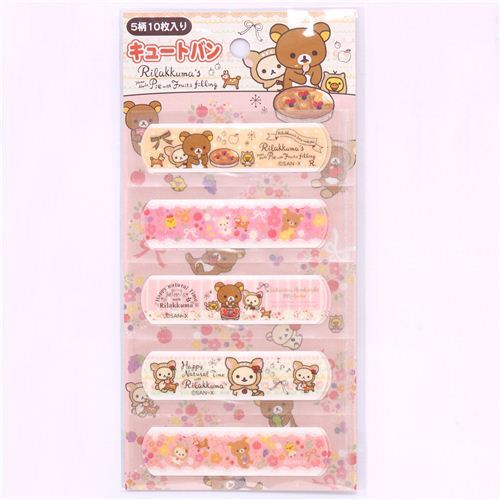 San-X deer Rilakkuma pie glitter Bandage Band-Aids 10 pcs