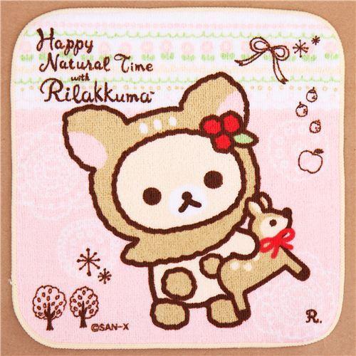deer Rilakkuma white bear deer costume towel from Japan