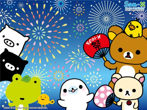 Happy New Year with this cute wallpaper by San-X