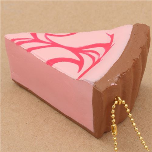 cute pink cheesecake hot pink sauce squishy charm kawaii