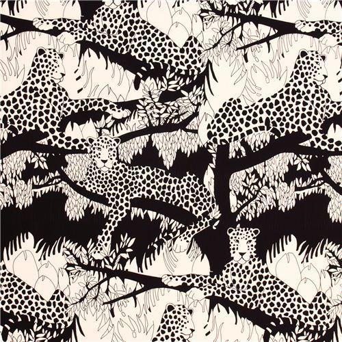cream heavy oxford fabric Mogambo leopard Alexander Henry