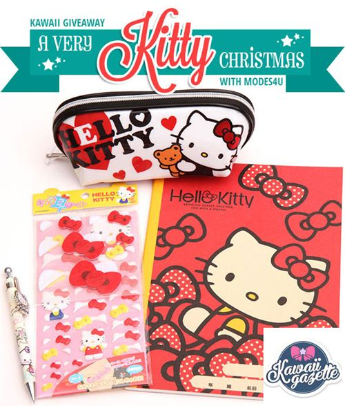 You can win this awesome Hello Kitty Christmas package on Kawaii Gazette