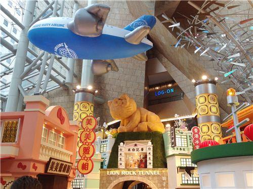 A huge Hello Kitty airplane