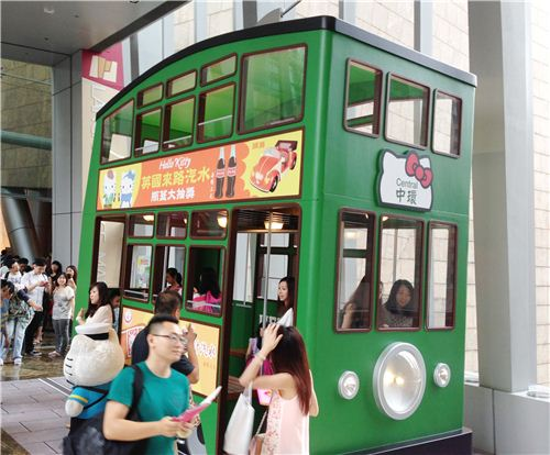 The Hello Kitty tram