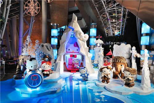 The whole Hello Kitty installation - official photo by Langham Place