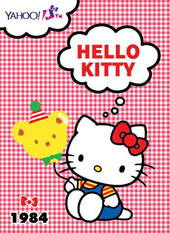 Hello Kitty x Yahoo e-cards 1984