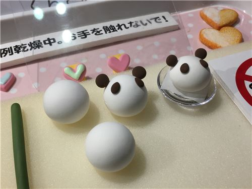 Learning how to make clay pandas