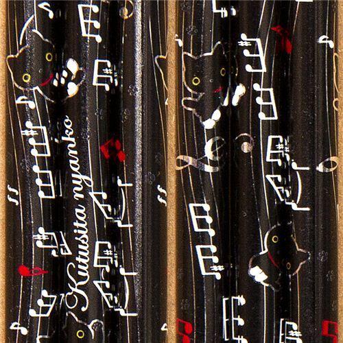 cute Kutusita Nyanko cat pencil with musical notes