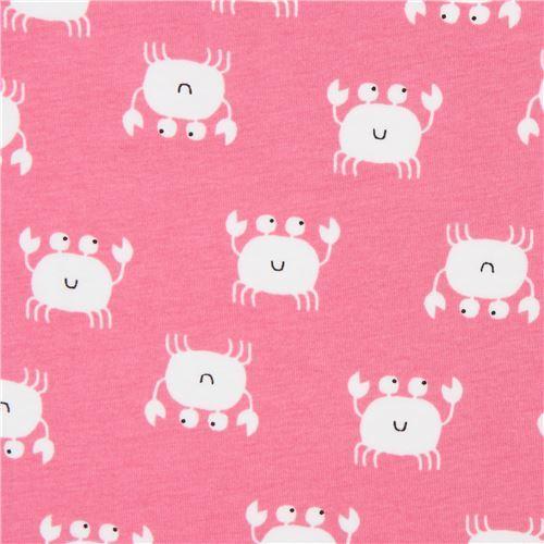 pink Stof Fabrics crab knit fabric
