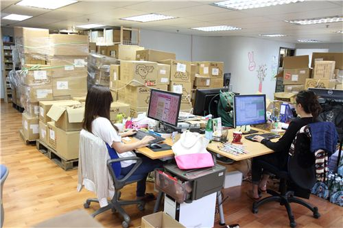 Our office ladies now work right next to the hugte San-X delivery