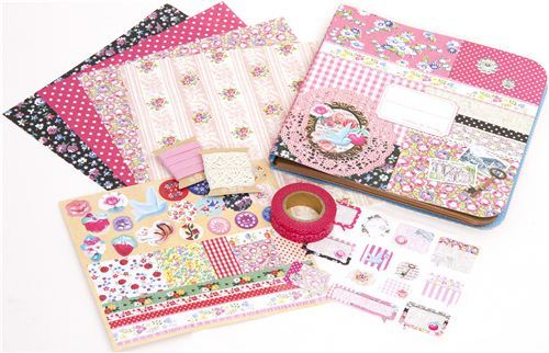 Scrapbooking kit from Japan in style Collage