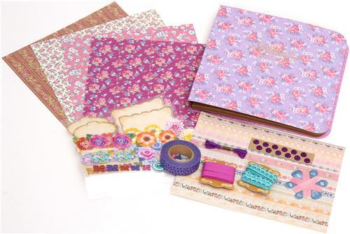 Scrapbooking kit from Japan with flowers