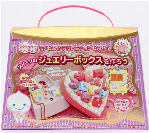 glitter mousse clay jewelry making kit Japan kawaii DIY