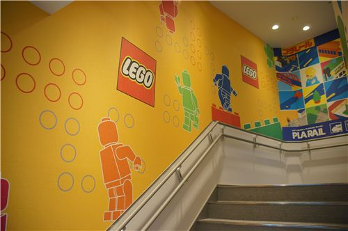For the boys: These stairs lead to the LEGO floor