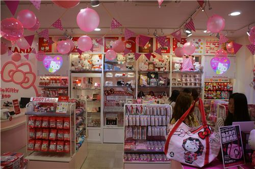 A kawaii dream come true: Lots of Hello Kitty stuff
