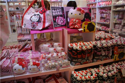 Hello Kitty dressed up as a Geisha