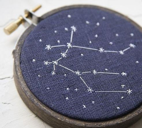 Beautiful constellation design by lilyandcompany.wordpress.com