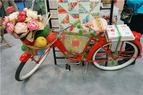 The bike was a great eye-catcher on the Alexander Henry booth