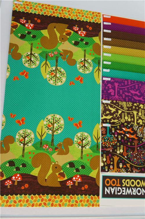 Super cute Michael Miller fabrics with squirrels