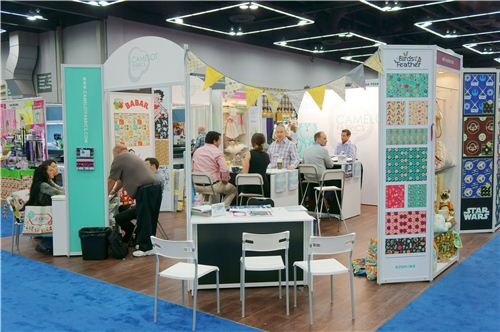 The cute Camelot trade show booth