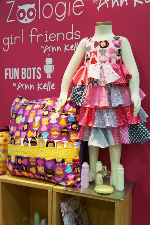 Super cute dress and pillow made with Ann Kelle's Girl Friends collection