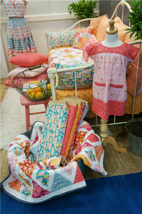Beautiful new fabrics and dresses on display